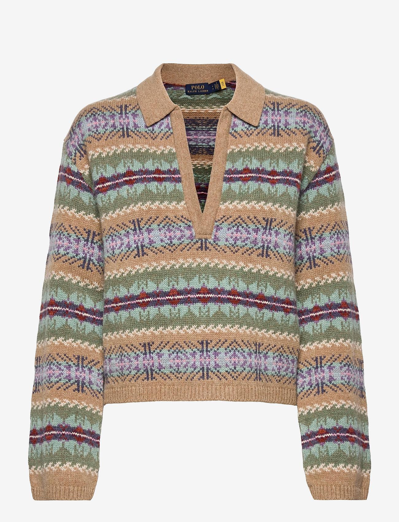 Polo Ralph Lauren - Fair Isle Wool Pullover - jumpers - green multi - 0