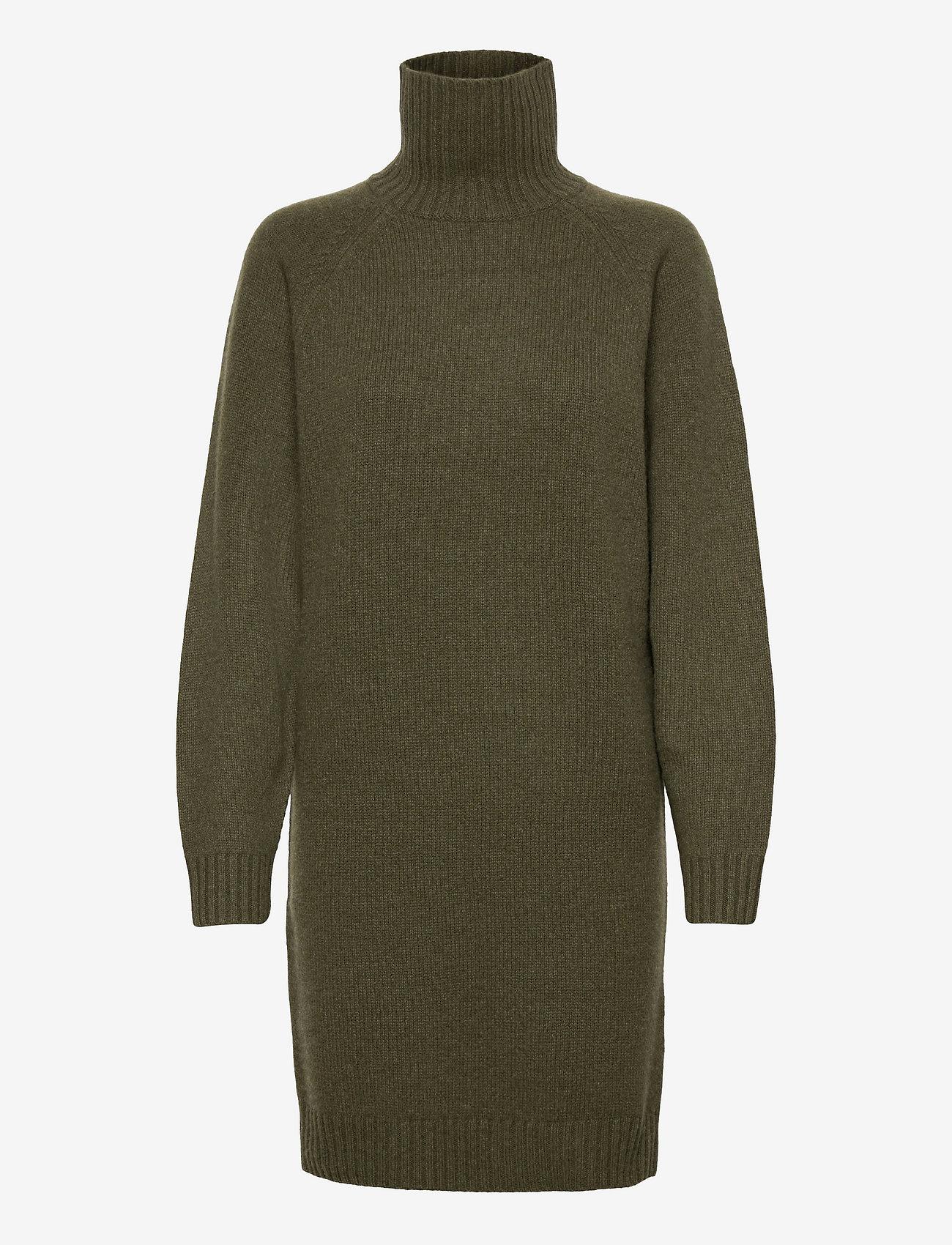 Polo Ralph Lauren - Wool-Cashmere Sweater Dress - knitted dresses - loden heather - 0