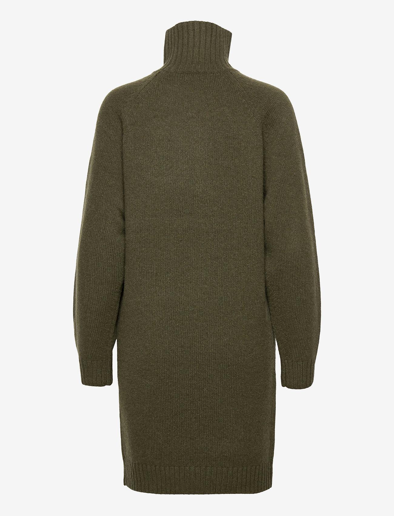 Polo Ralph Lauren - Wool-Cashmere Sweater Dress - knitted dresses - loden heather - 1