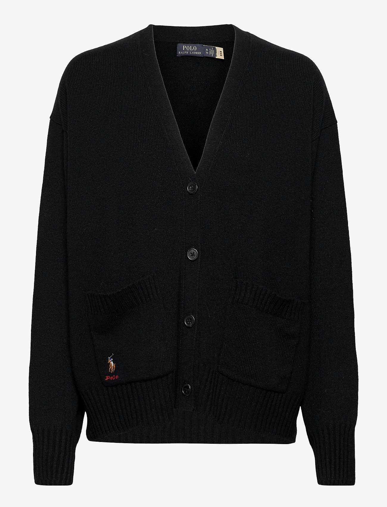 Polo Ralph Lauren - Wool-Blend Buttoned Cardigan - cardigans - polo black - 0