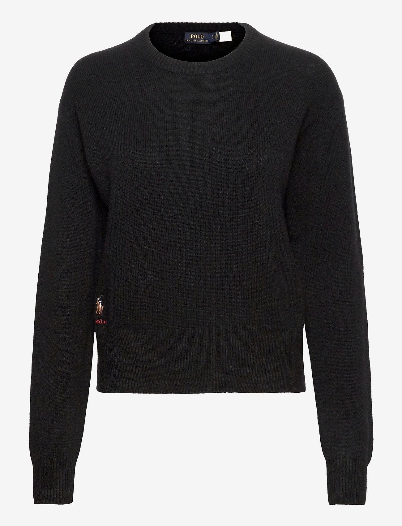 Polo Ralph Lauren - Wool-Blend Crewneck Sweater - jumpers - polo black - 0