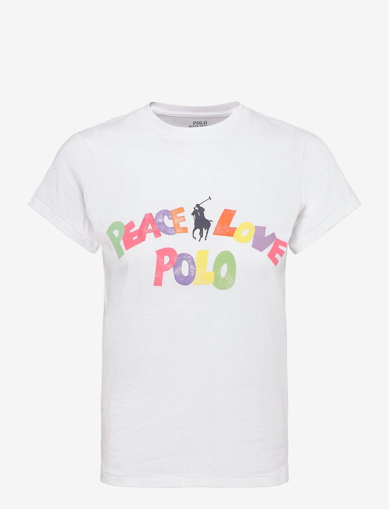 Polo Ralph Lauren - 40/1 COTTON JERSEY-SSL-TSH - t-shirts - white - 0