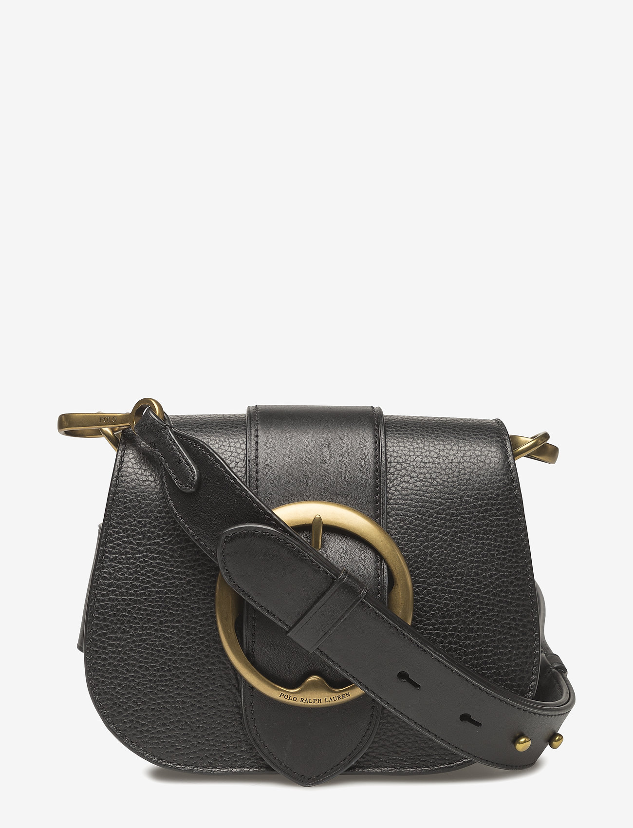Polo Ralph Lauren - Pebbled Leather Lennox Bag - olkalaukut - black