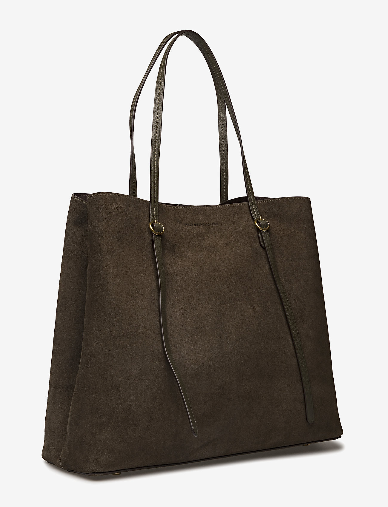 Polo Ralph Lauren Suede Lennox Tote - Shoppers Olive