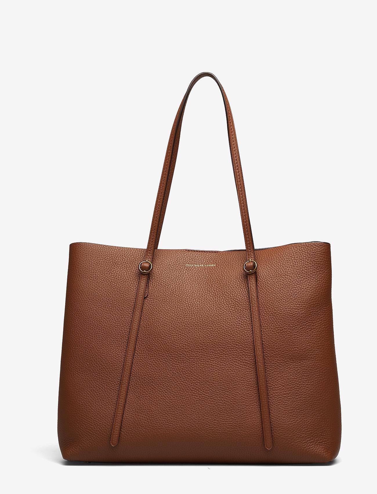 Polo Ralph Lauren - Leather Large Lennox Tote - fashion shoppers - saddle