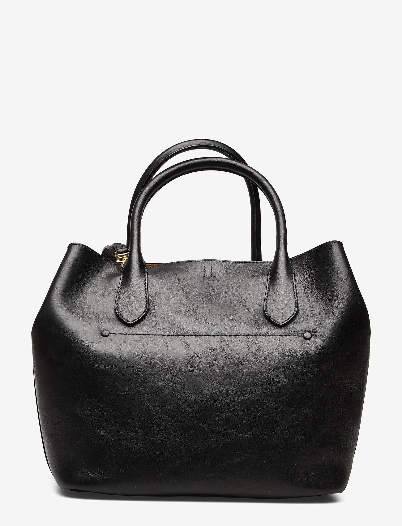 Polo Ralph Lauren - Leather Medium Bellport Tote - shoppers - black - 1
