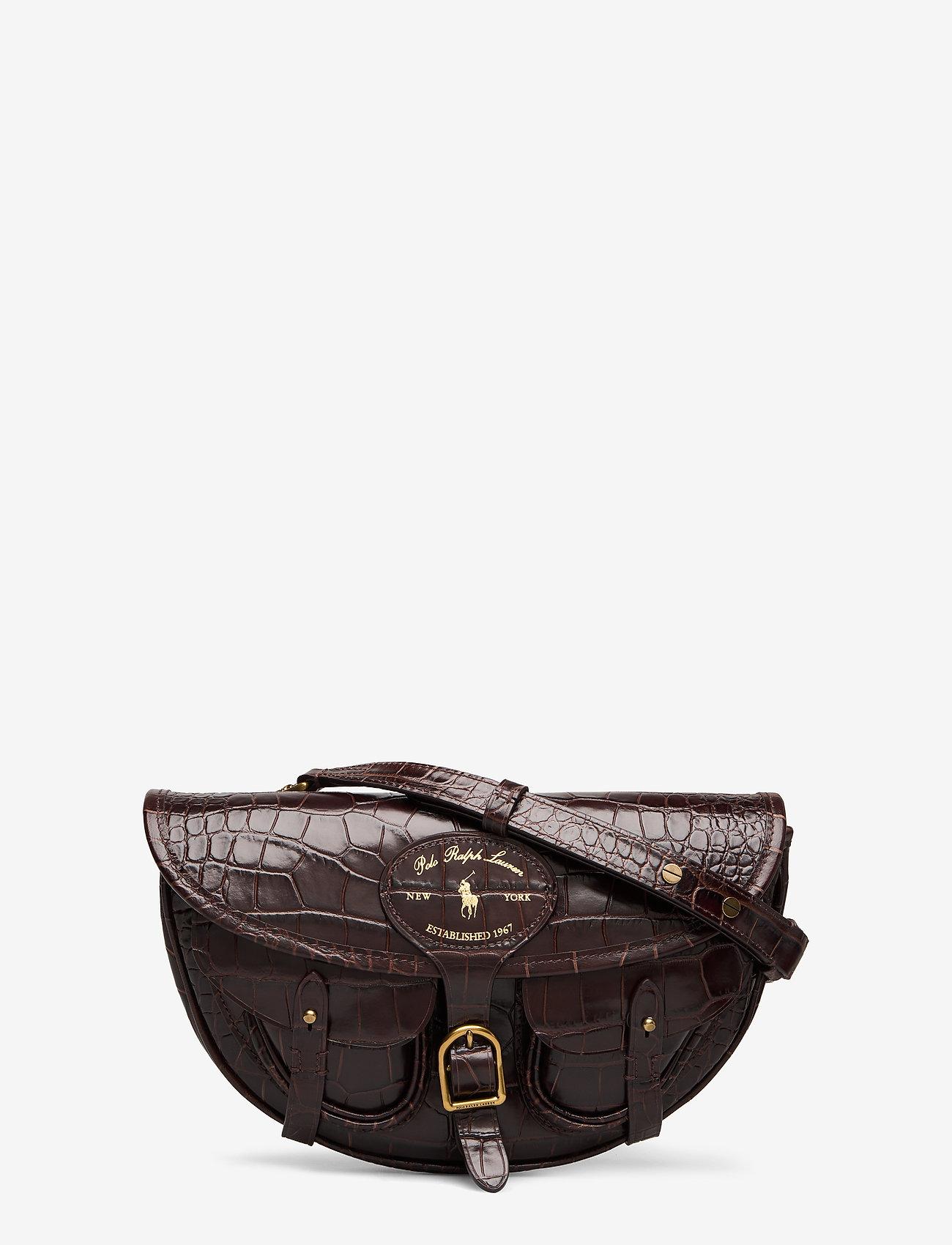 Polo Ralph Lauren - CROC EMBOSSED LTHR-CONV BELTBAG-CXB - olkalaukut - chocolate