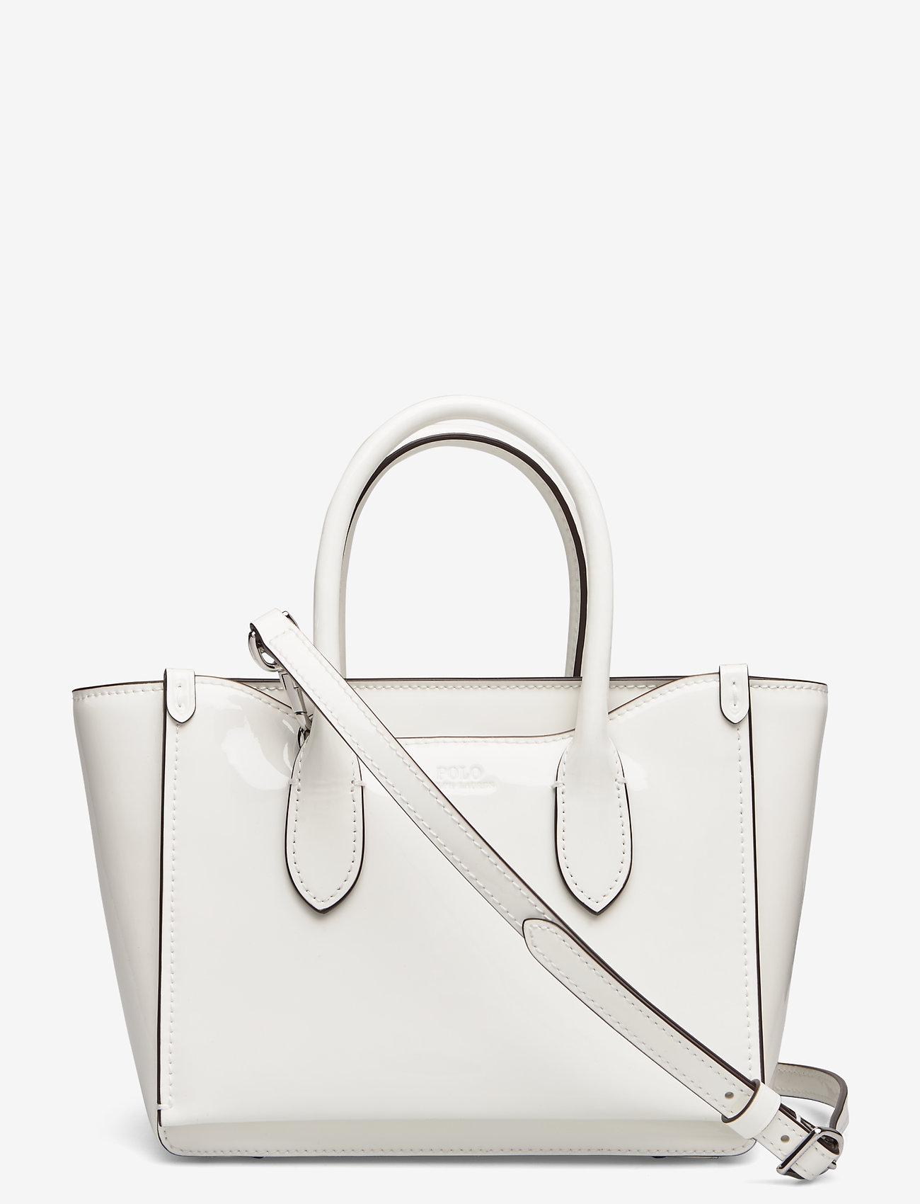 Polo Ralph Lauren - Leather Mini Sloane Satchel - shoulder bags - white - 0