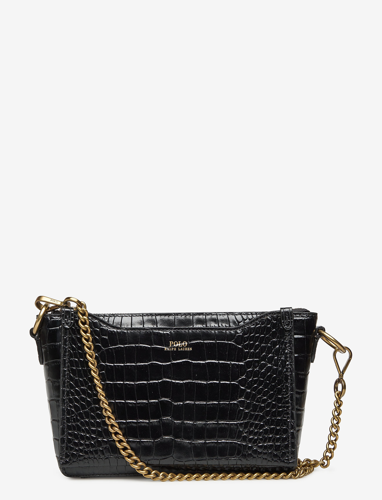 Polo Ralph Lauren - CROC EMBOSSED LTHR-SLOANE XBDY-CXB- - shoulder bags - black - 1