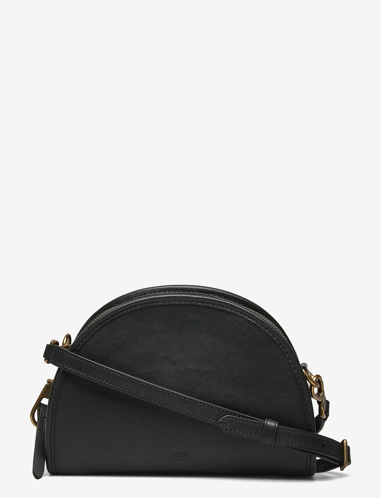 Polo Ralph Lauren - SMOOTH LEATHER-HALF MOON XB-CXB-SMA - shoulder bags - black - 0