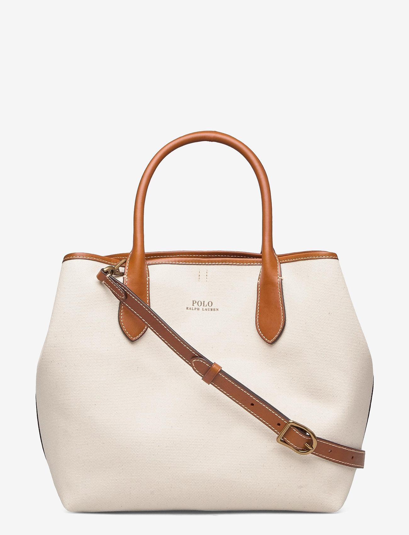 Polo Ralph Lauren - POLO CANVAS-MD OPEN TOTE-TTE-MED - håndtasker - natural - 0