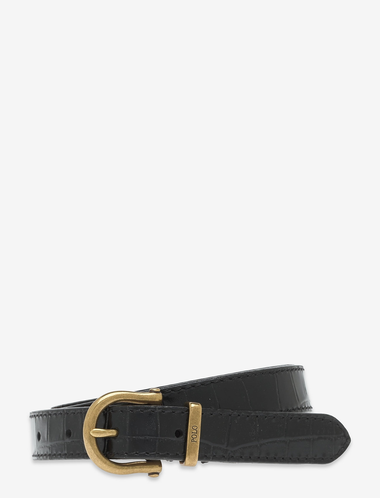 Polo Ralph Lauren - Single-Prong Leather Belt - belts - black - 0