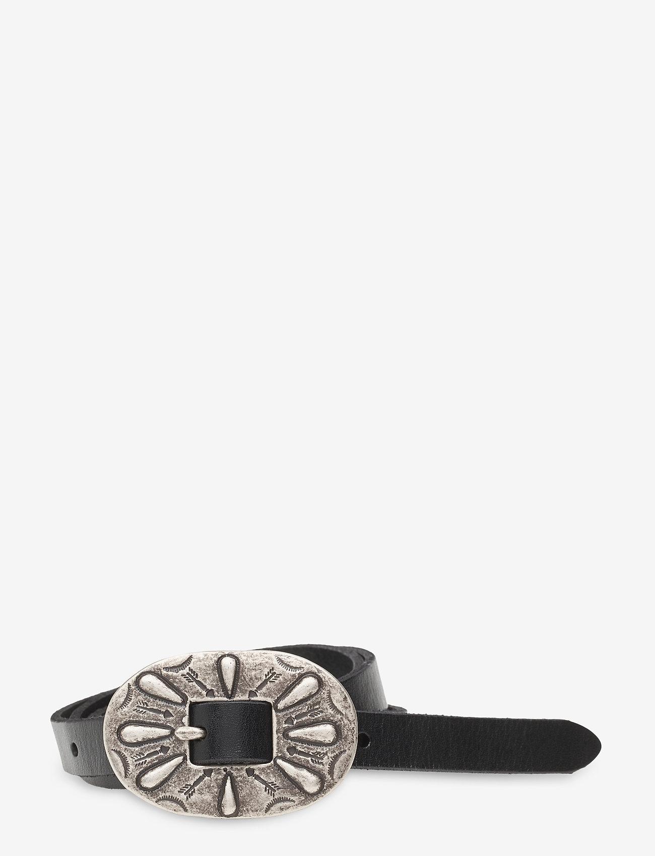 Polo Ralph Lauren - Skinny Leather Buckle Belt - belts - black - 0