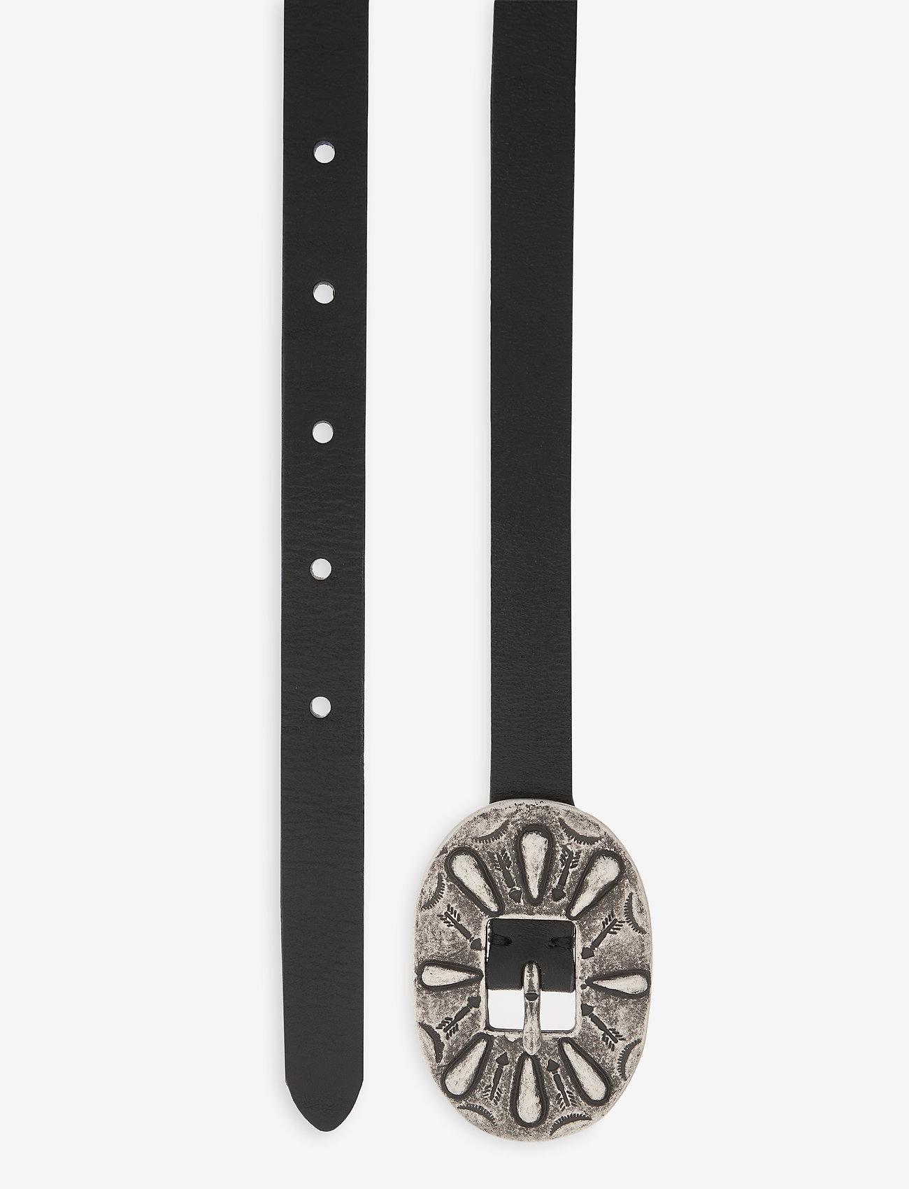 Polo Ralph Lauren - Skinny Leather Buckle Belt - belts - black - 1