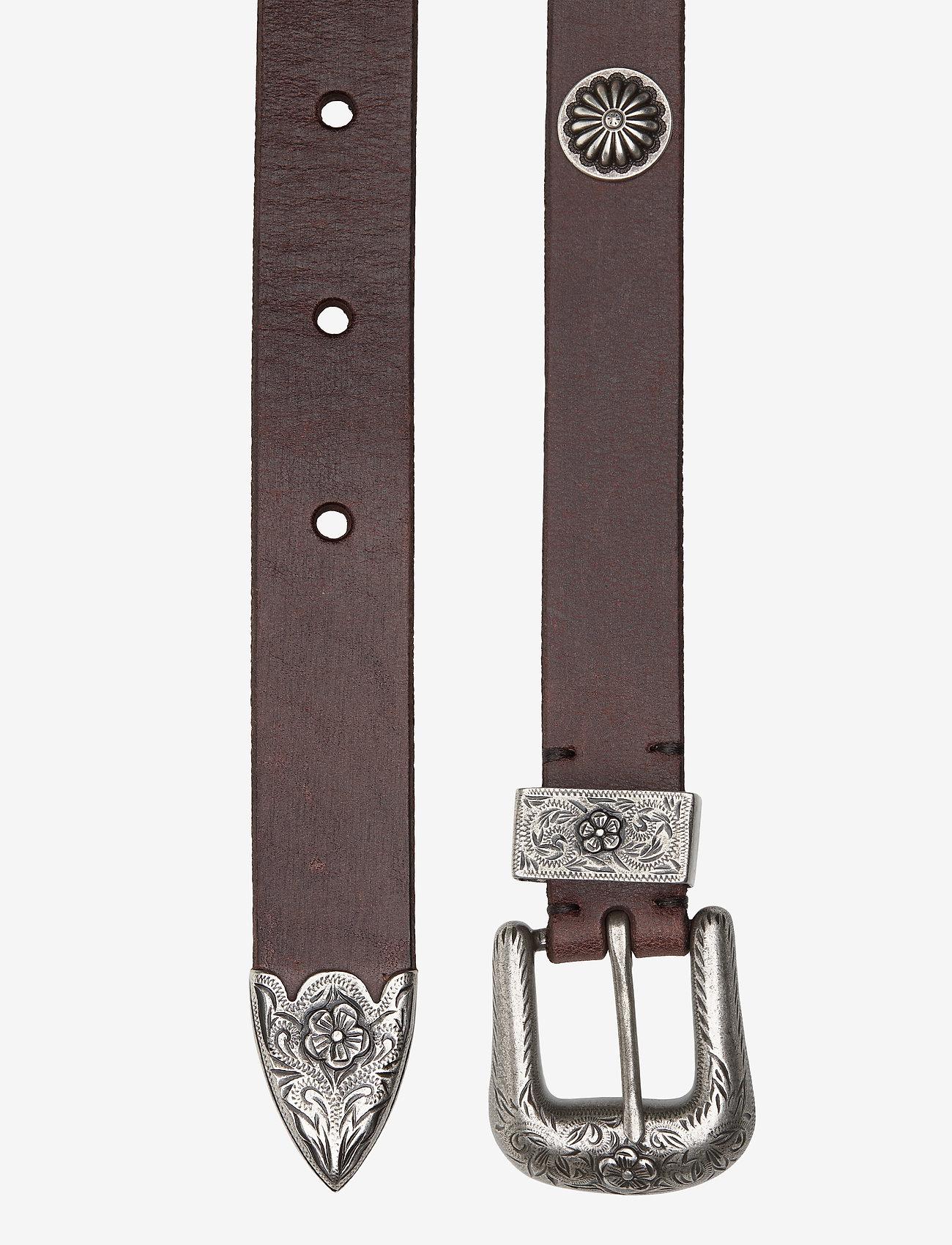 Polo Ralph Lauren - Western Calfskin Belt - belts - dark brown - 1
