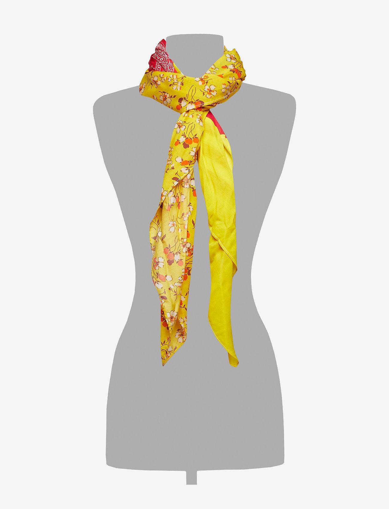 Polo Ralph Lauren Rayon/silk-patchwork Sc-sqs-nyl - Écharpes