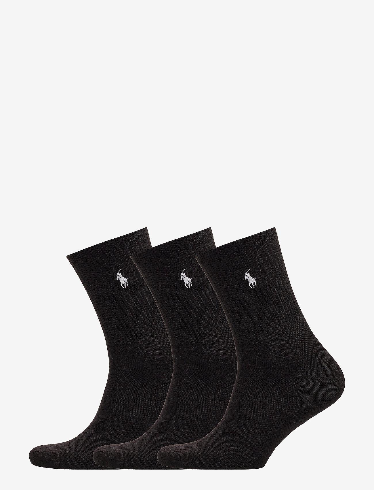 Polo Ralph Lauren - Supersoft Crew Sock 3-Pack - regular socks - black - 0