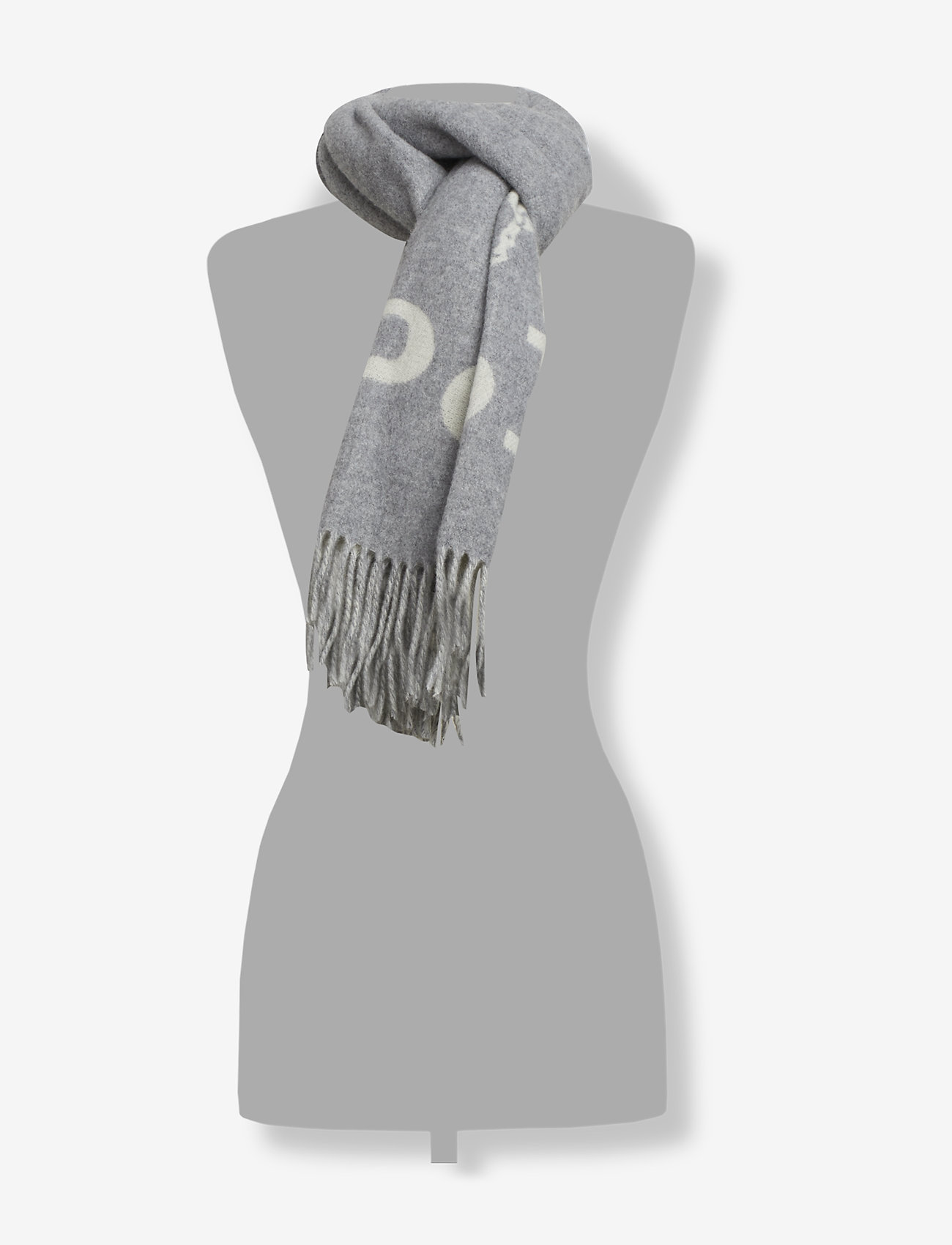 Polo Ralph Lauren - Wool-Blend Oversize Scarf - scarves - cream/fawn grey - 1