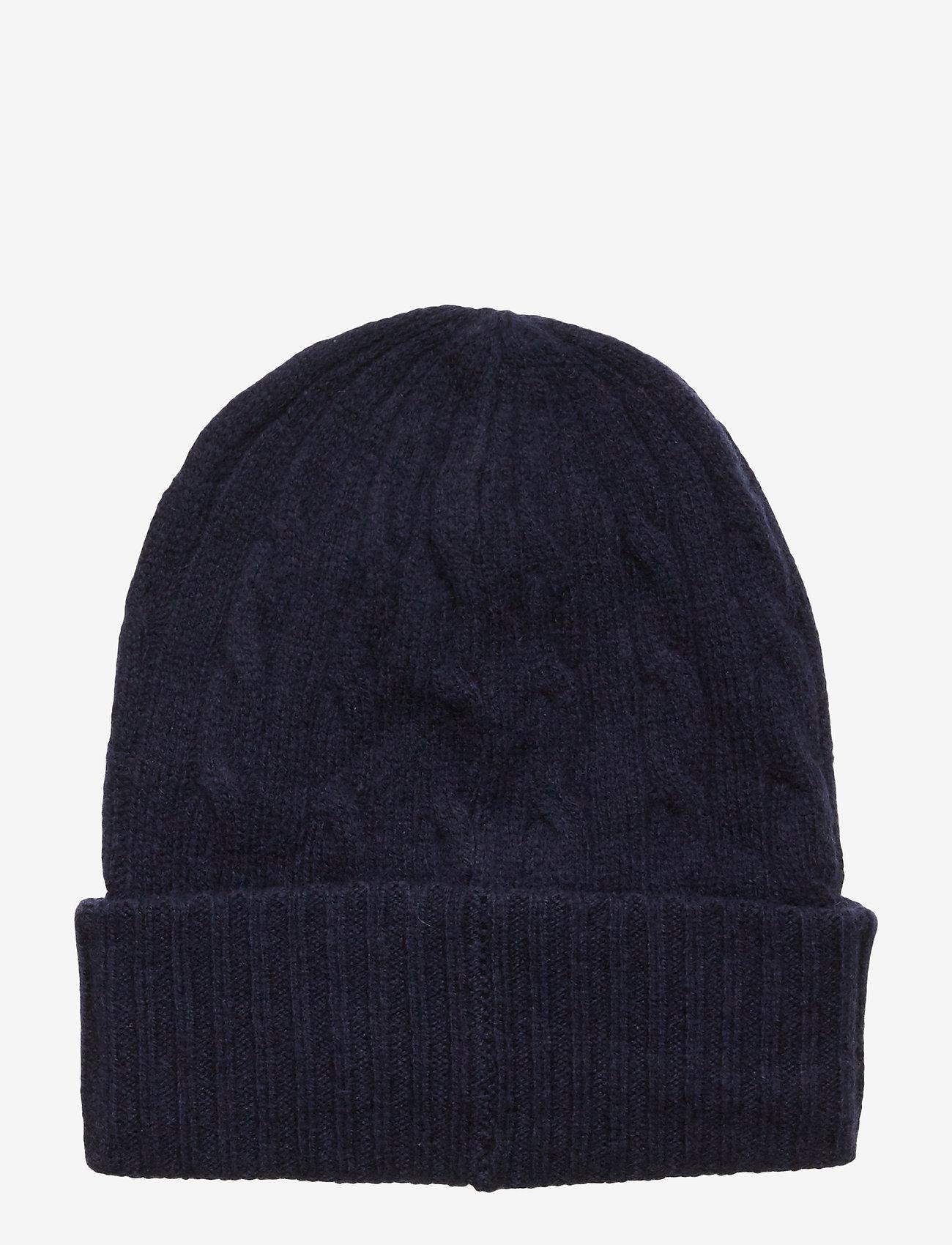 Polo Ralph Lauren Wool/cashmere-cable-hat - Mössor & Kepsar Navy