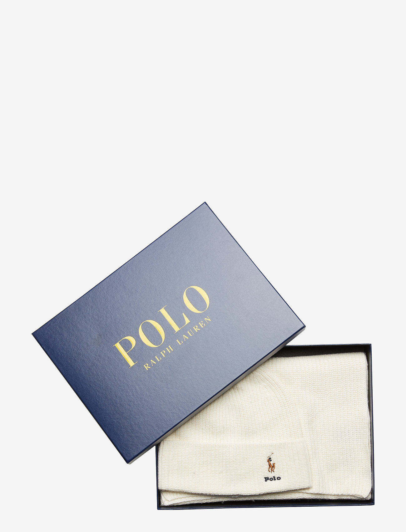 Polo Ralph Lauren - VISCOSE BLEND-SIGN BOX1-OBS - pipot - cream