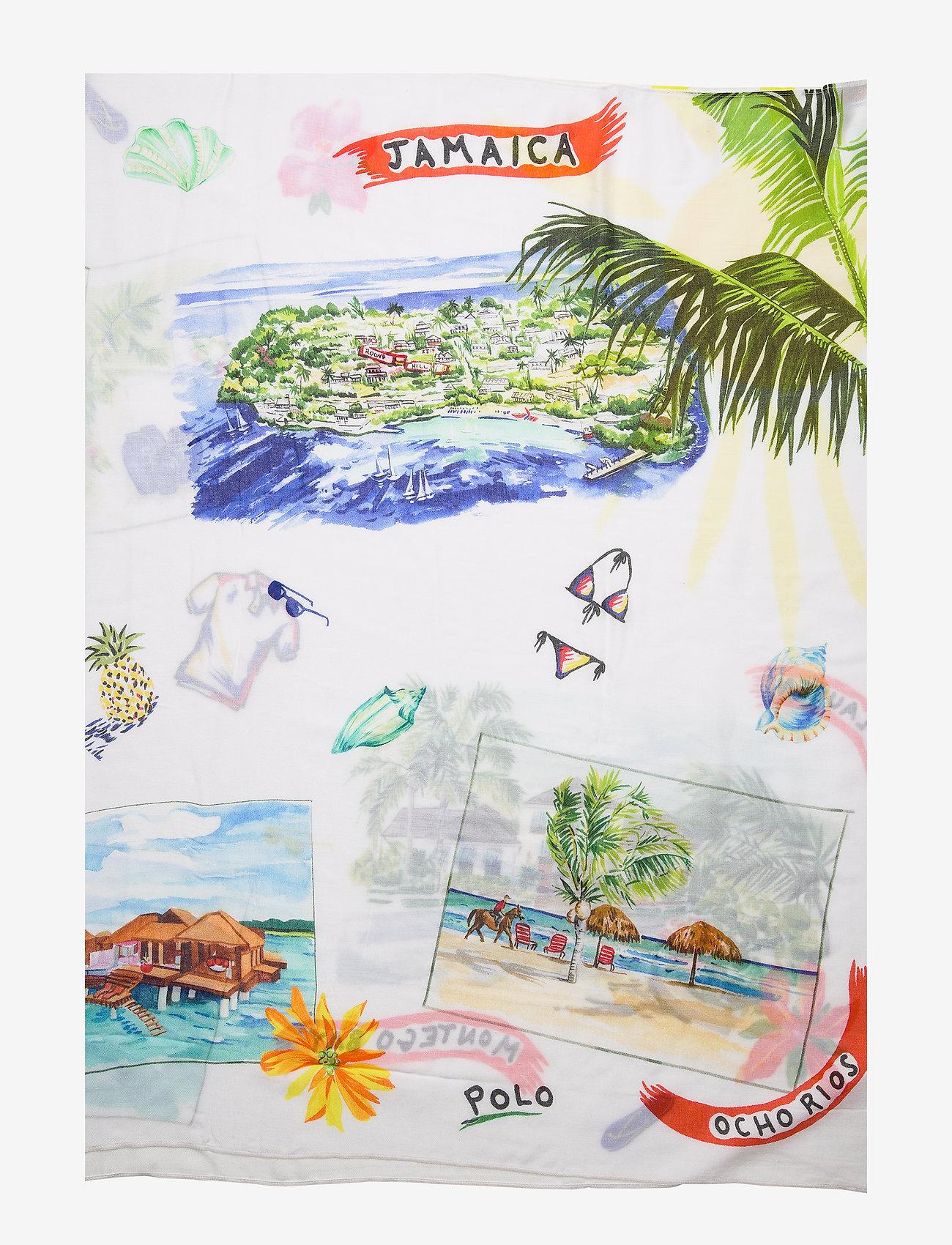Polo Ralph Lauren  Jamaica-Print Wrap Scarf - Schals