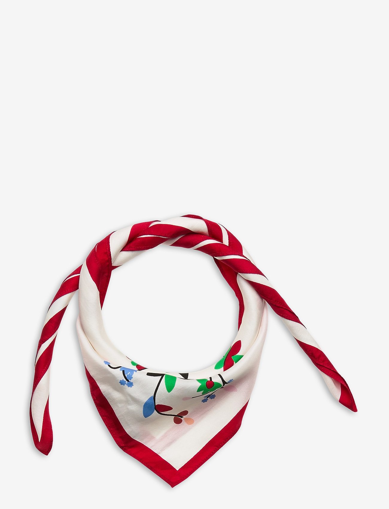 Polo Ralph Lauren - Beaded Silk Scarf - tørklæder - white multi - 0