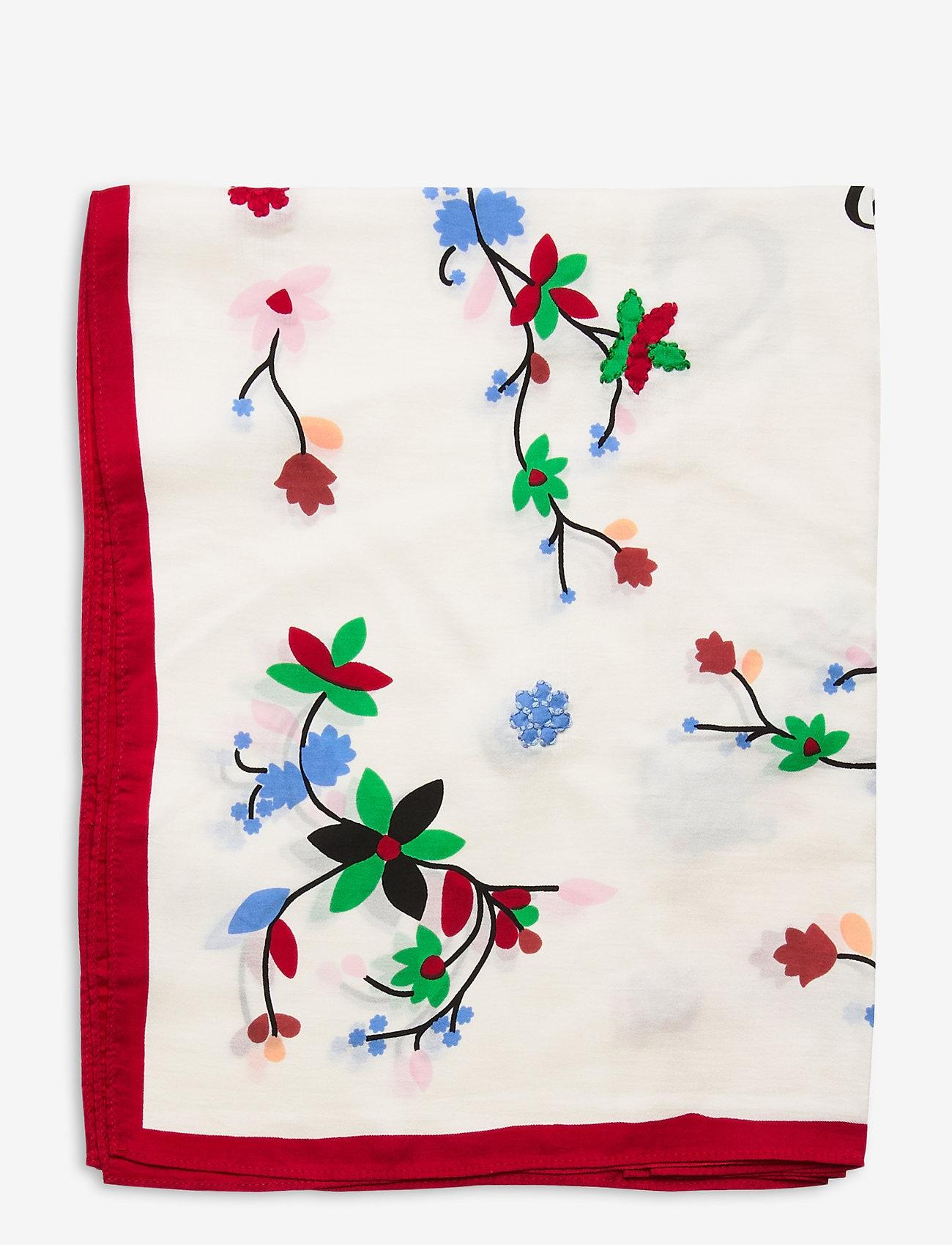 Polo Ralph Lauren - Beaded Silk Scarf - scarves - white multi - 1