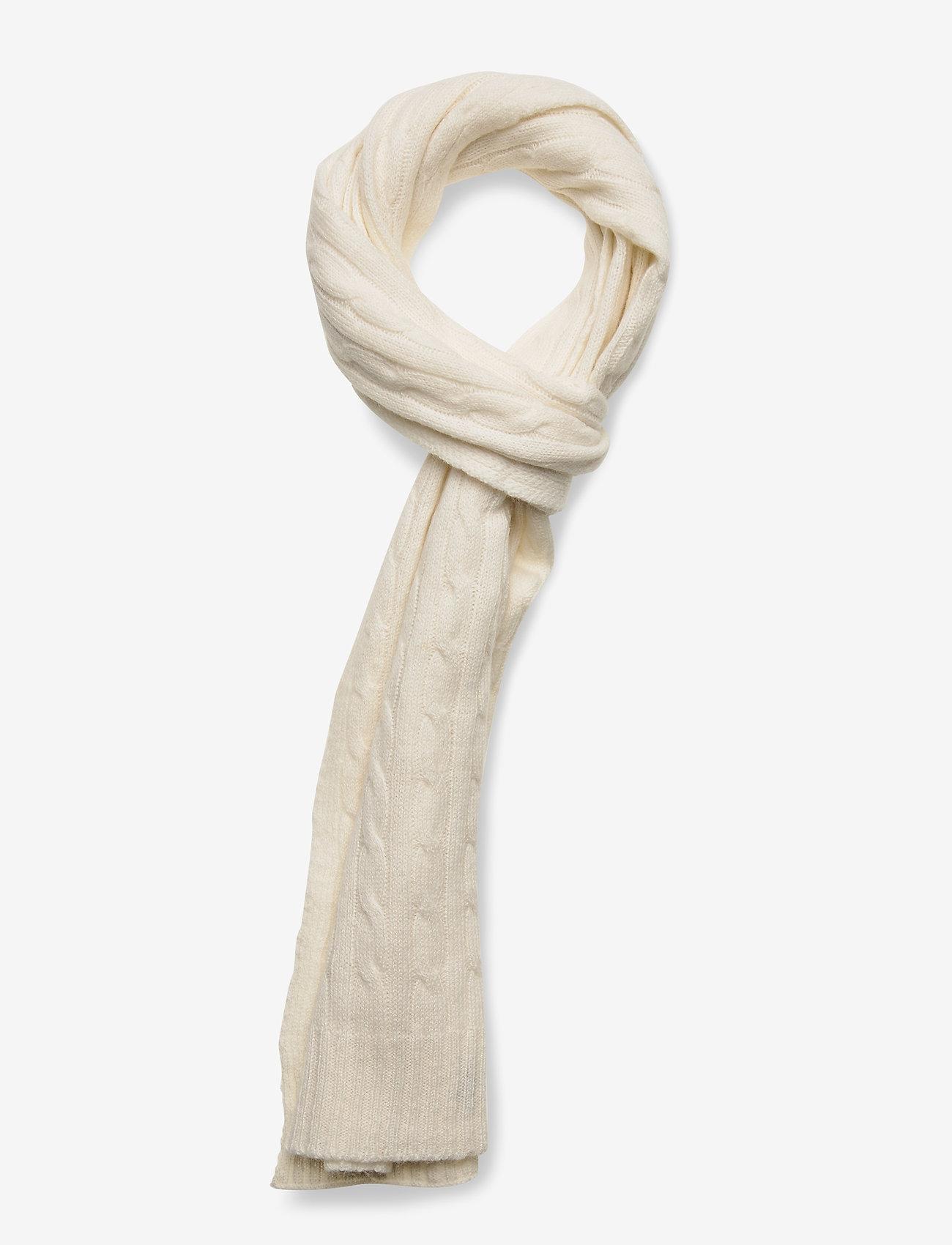 Polo Ralph Lauren - WOOL BLEND-WOOL CASHME-OBS - scarves - cream - 0