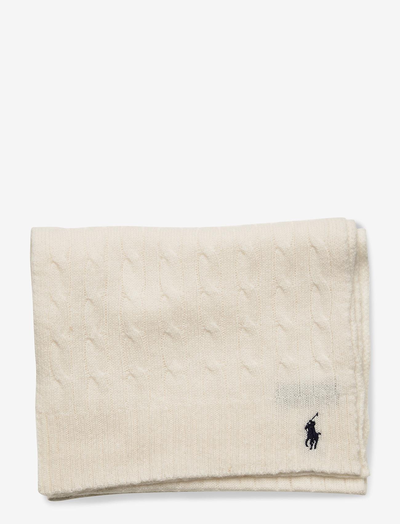 Polo Ralph Lauren - WOOL BLEND-WOOL CASHME-OBS - scarves - cream - 1