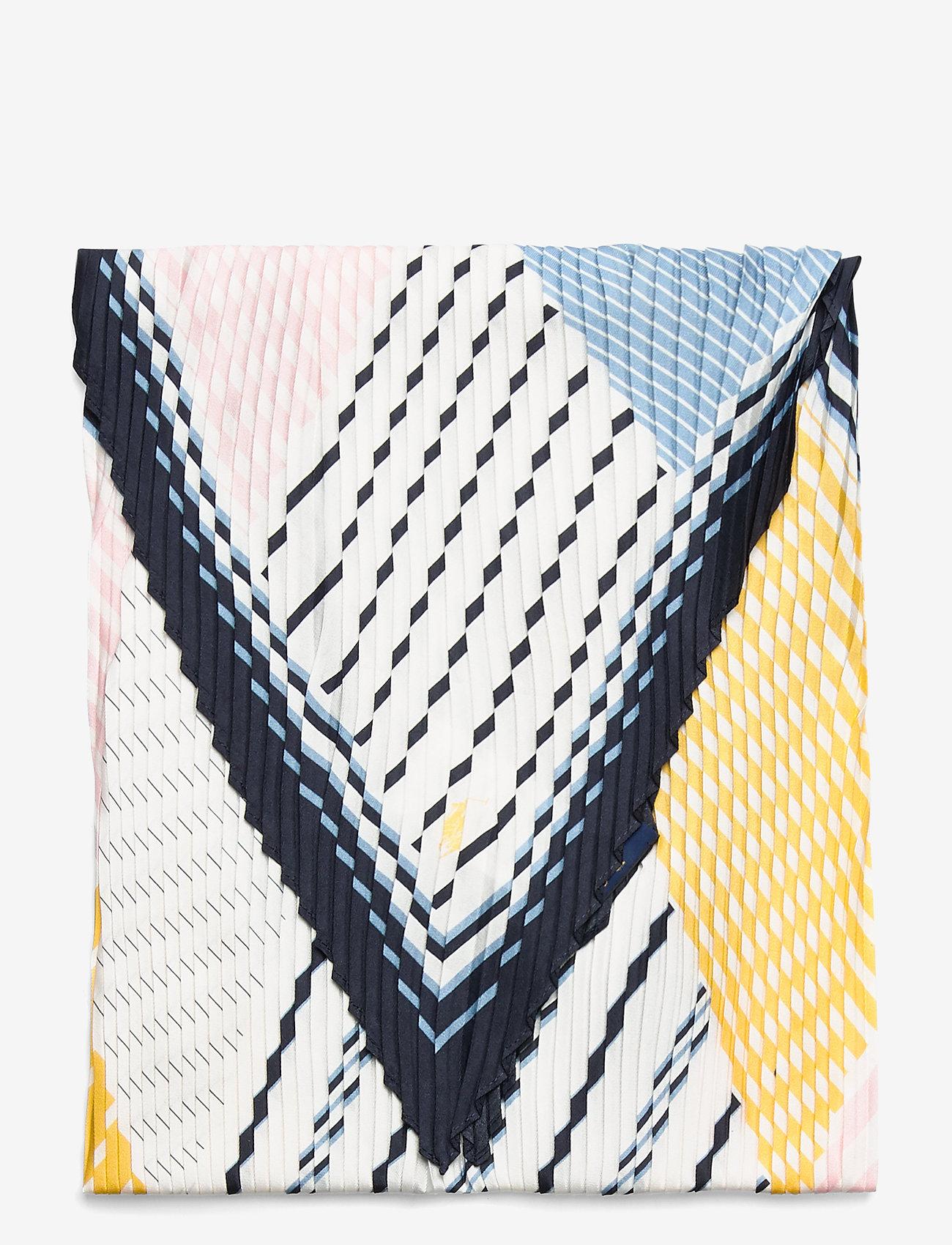 Polo Ralph Lauren - PLTED MSTRPE-SCARF-SQUARE - tynde tørklæder - cruise navy multi - 1