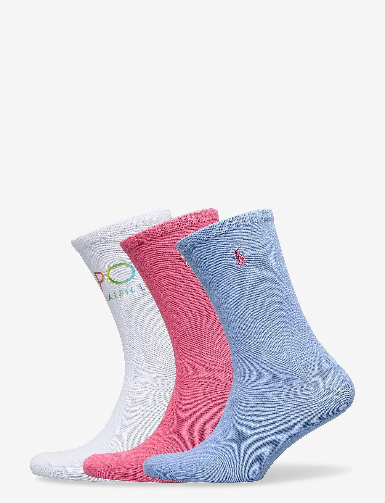 Polo Ralph Lauren - OMBRE POLO-CREW SOCK-3 PACK - sokker - whast nrf 150 - 0