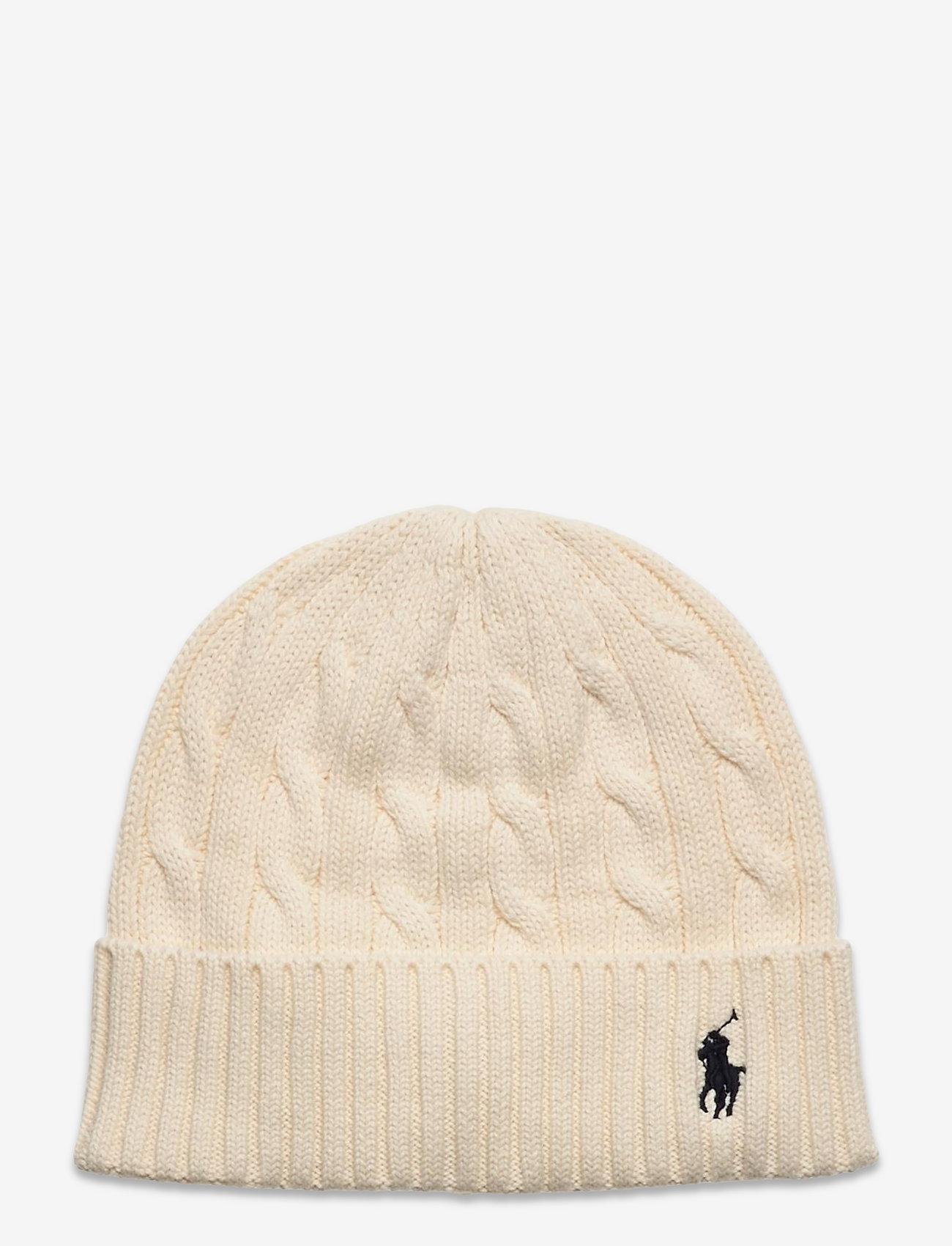Polo Ralph Lauren - Cable-Knit Cotton Beanie - mössor - clubhouse cream - 0