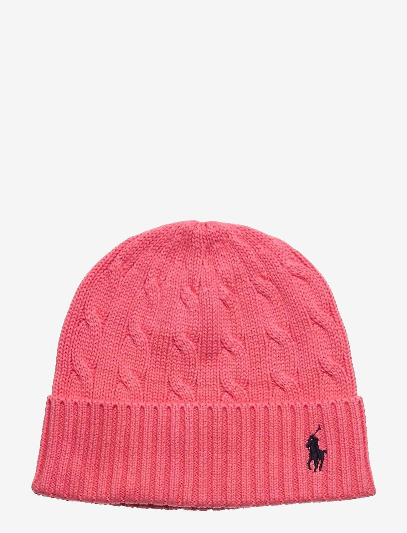 Polo Ralph Lauren - Cable-Knit Cotton Beanie - huer - horizon pink - 0