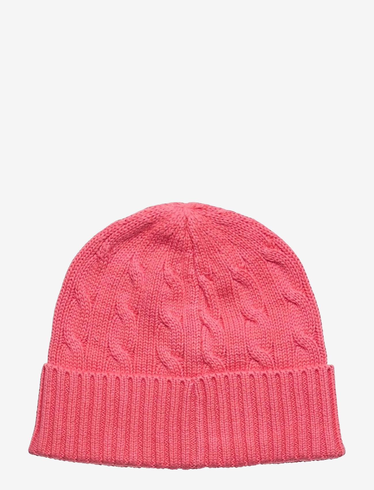 Polo Ralph Lauren - Cable-Knit Cotton Beanie - huer - horizon pink - 1