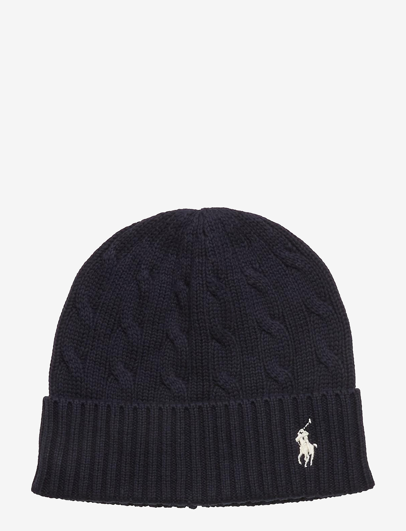 Polo Ralph Lauren - Cable-Knit Cotton Beanie - beanies - hunter navy - 0