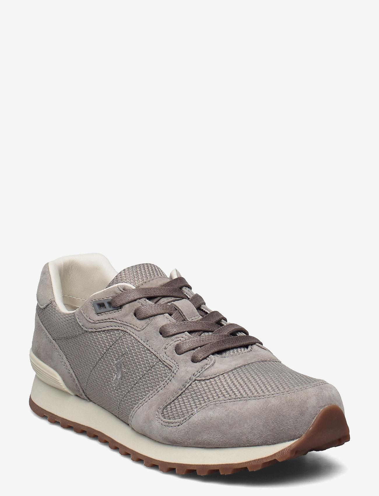 Polo Ralph Lauren - Classic Runner Suede & Mesh Sneaker - low top sneakers - grey - 0