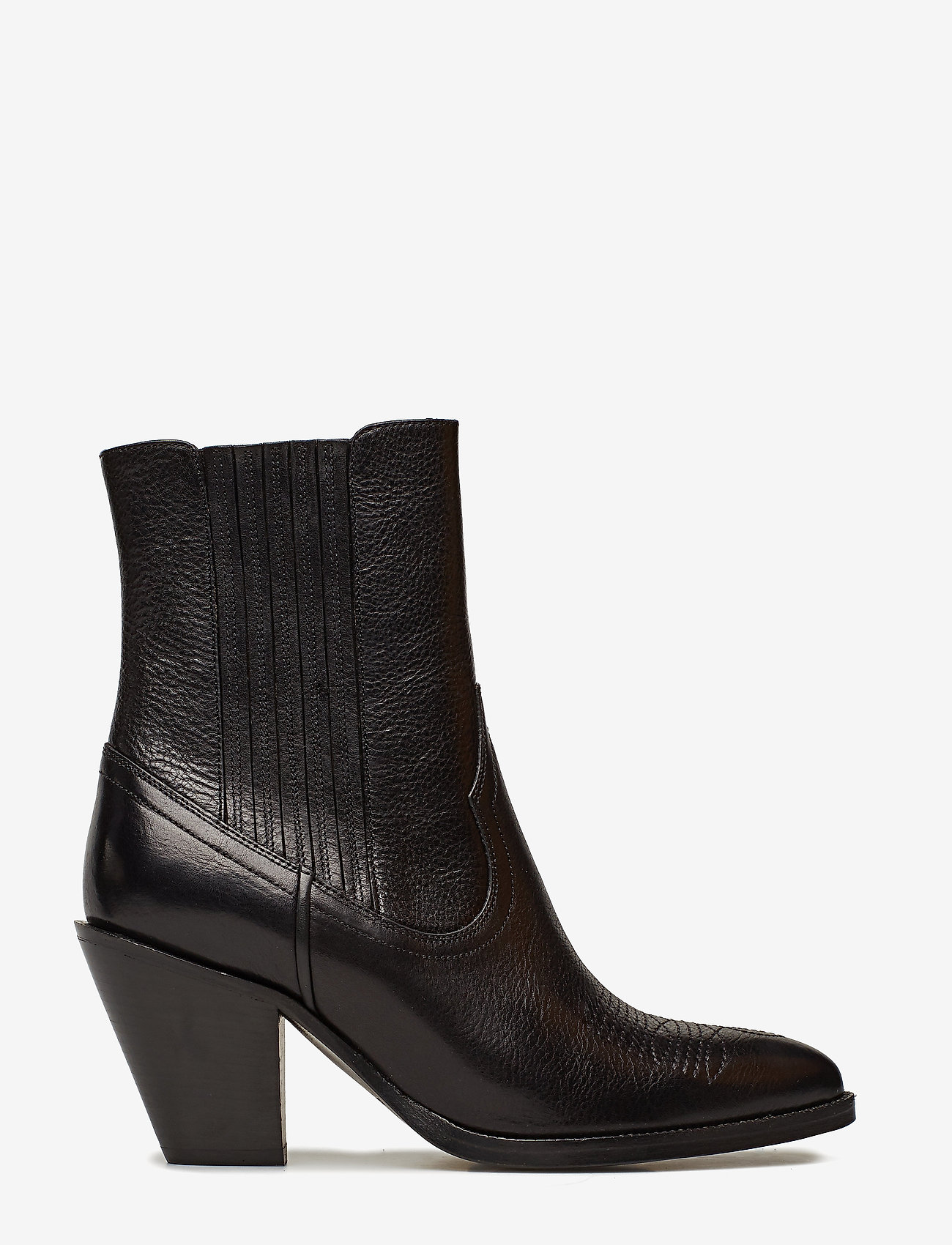 Polo Ralph Lauren - Lowrey Leather Cowboy Boot - heeled ankle boots - black - 1