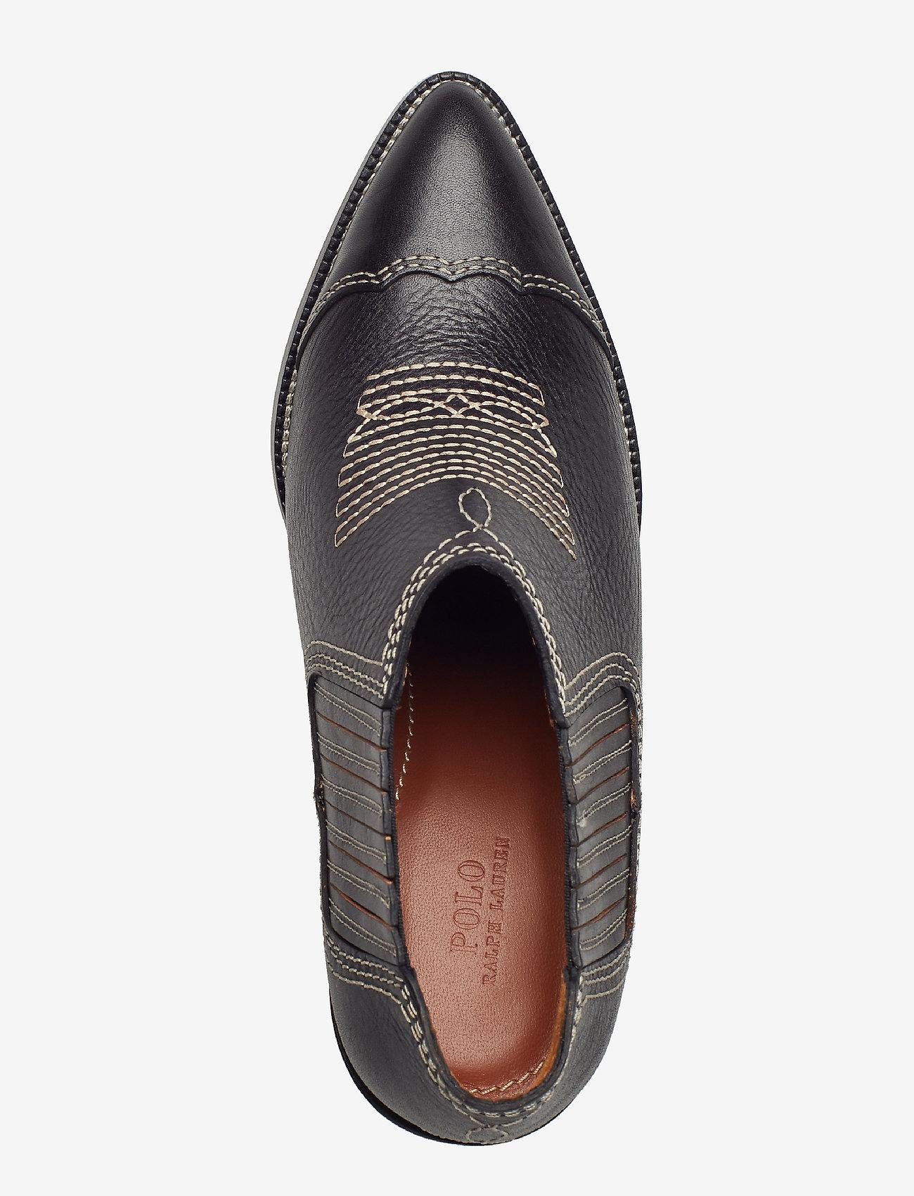 Lowrey Leather Bootie (Black) - Polo Ralph Lauren