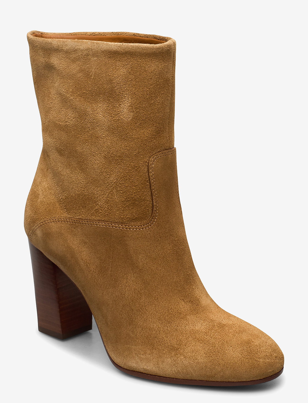 Polo Ralph Lauren - Brindley Suede Boot - heeled ankle boots - tan - 0