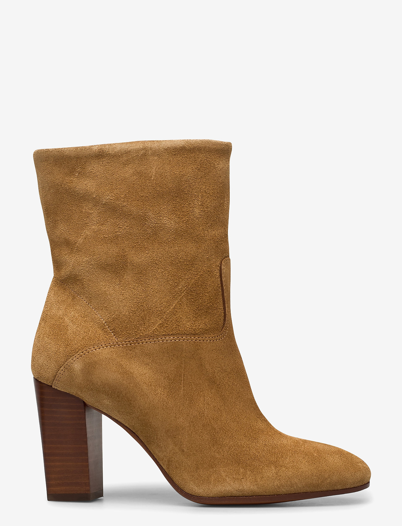 Polo Ralph Lauren - Brindley Suede Boot - heeled ankle boots - tan - 1