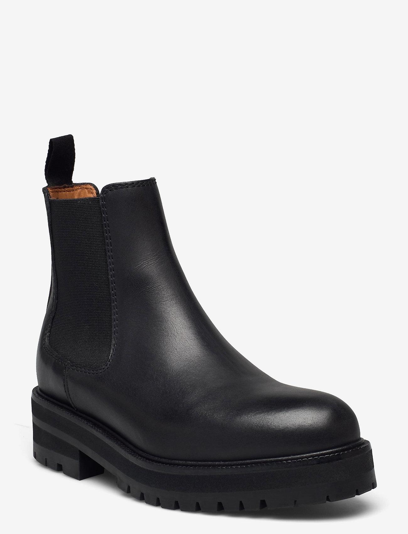 Polo Ralph Lauren - Calfskin Lug Chelsea Boot - chelsea boots - black - 0