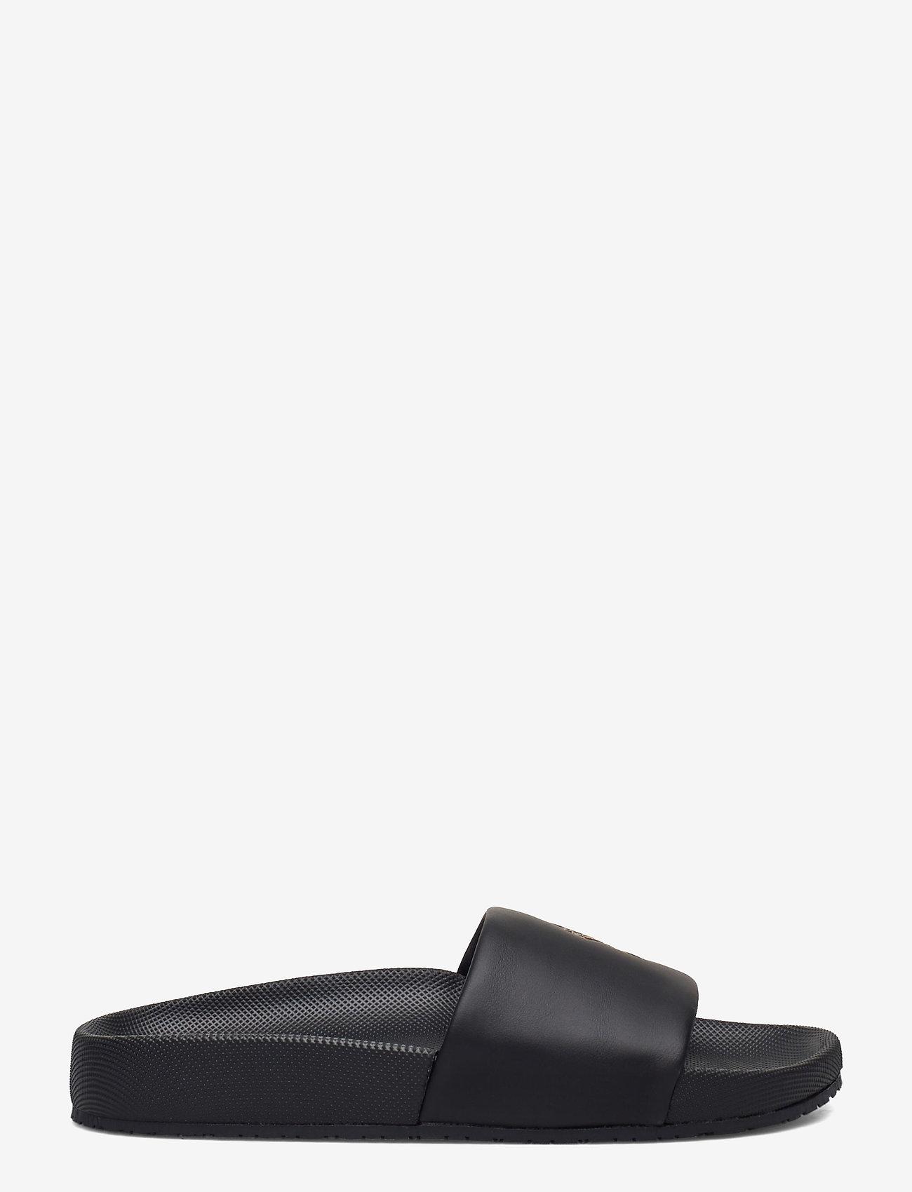 Polo Ralph Lauren - Cayson Pony Slide Sandal - pool sliders - black/gold pp - 1