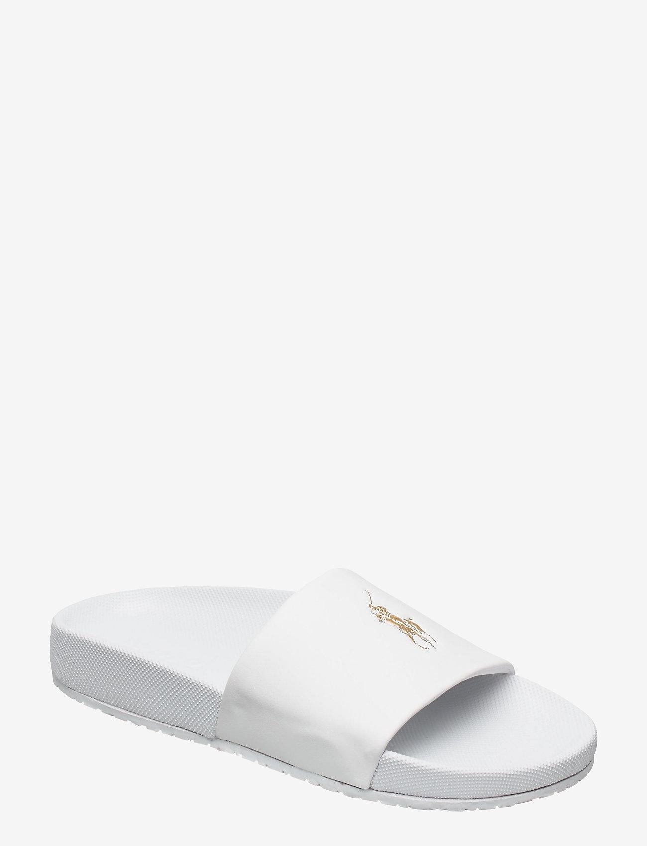 Polo Ralph Lauren - Cayson Pony Slide Sandal - pool sliders - white/gold pp - 0