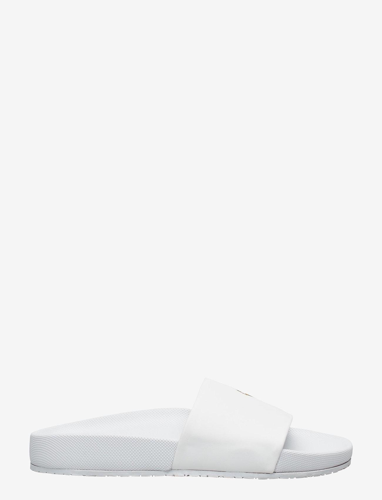 Polo Ralph Lauren - Cayson Pony Slide Sandal - pool sliders - white/gold pp - 1