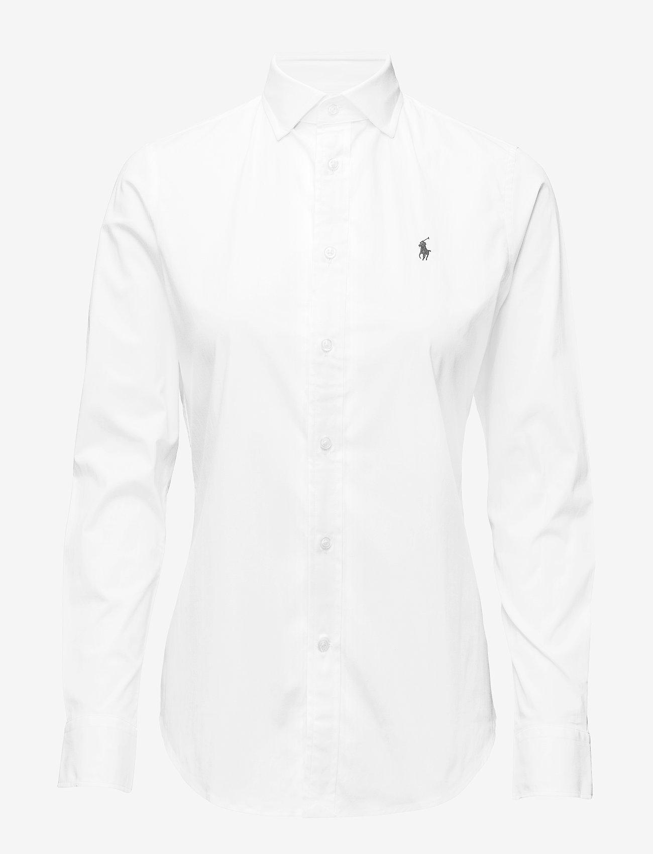 Stretch Slim Poplin Shirt (White) (599.40 kr) - Polo Ralph Lauren