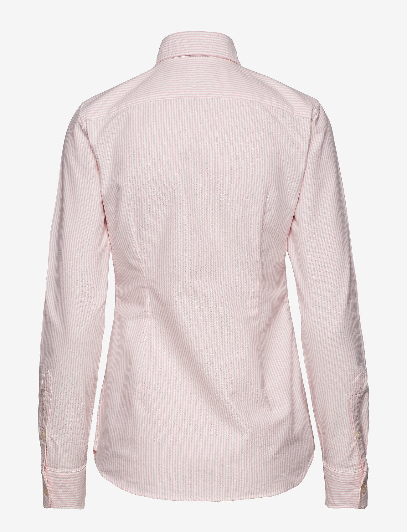 Polo Ralph Lauren - Custom Fit Cotton Oxford Shirt - long-sleeved shirts - bsr pink/white