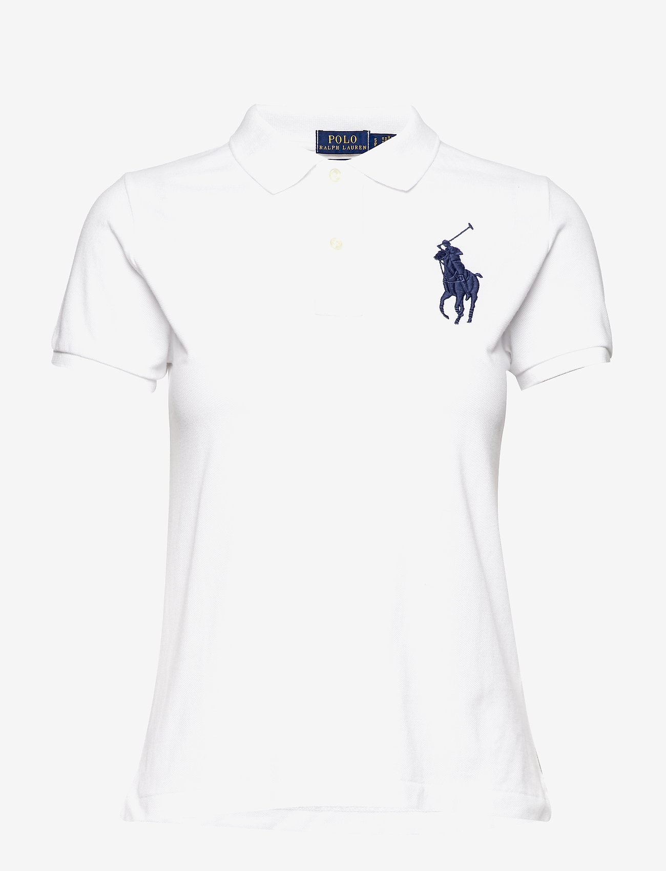 Polo Ralph Lauren - Skinny-Fit Big Pony Polo Shirt - polo shirts - white/navy pp - 1