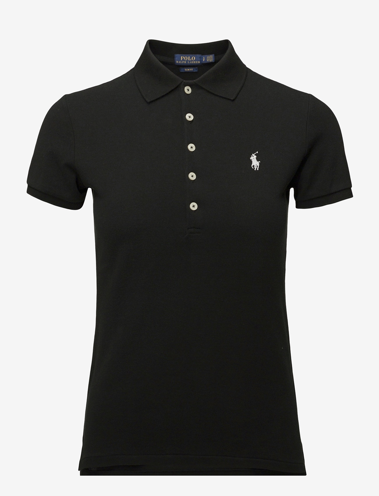 Polo Ralph Lauren - Slim Fit Polo Shirt - pikeepaidat - polo black/white - 1
