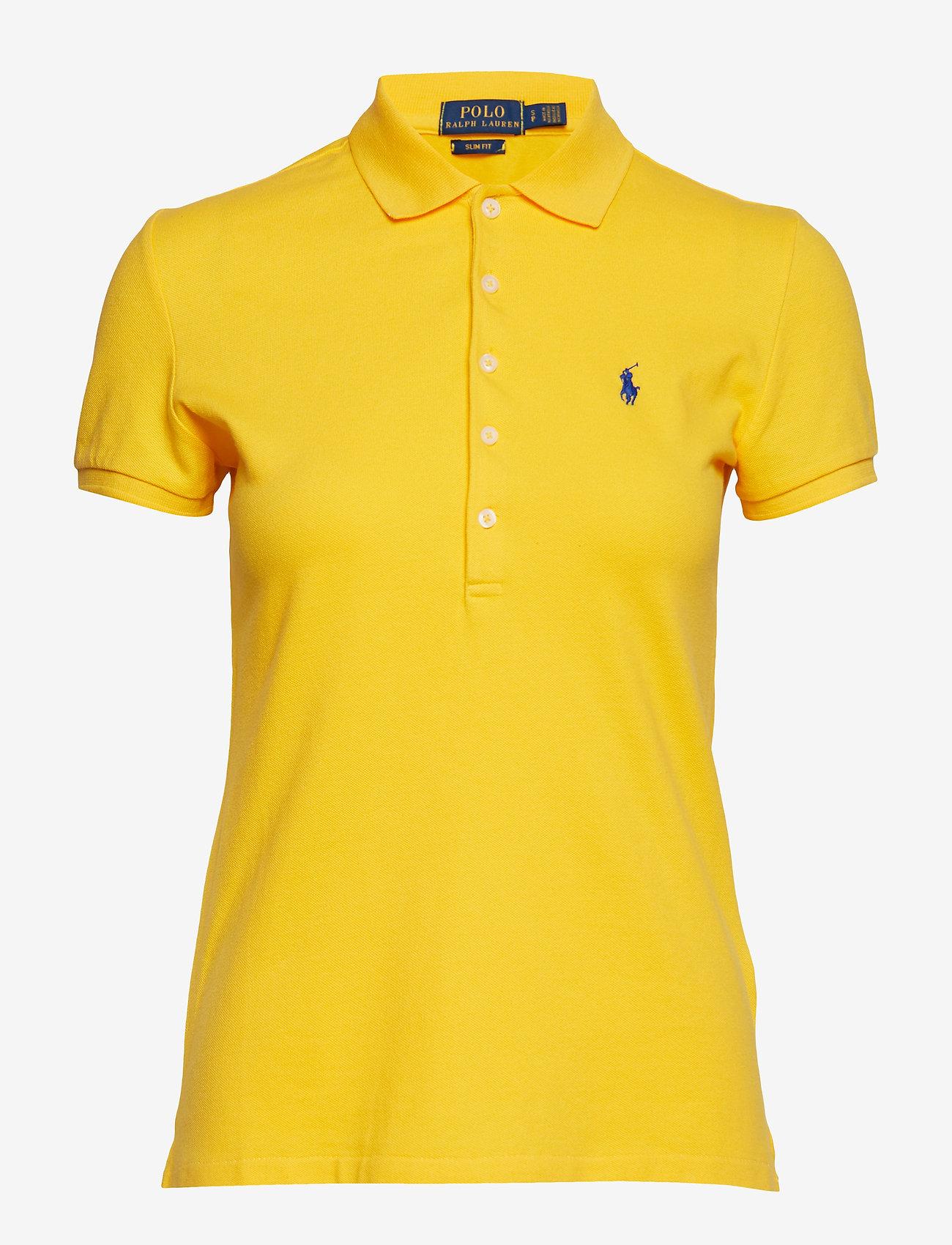 Polo Ralph Lauren - Slim Fit Polo Shirt - poloskjorter - yellowfin - 1