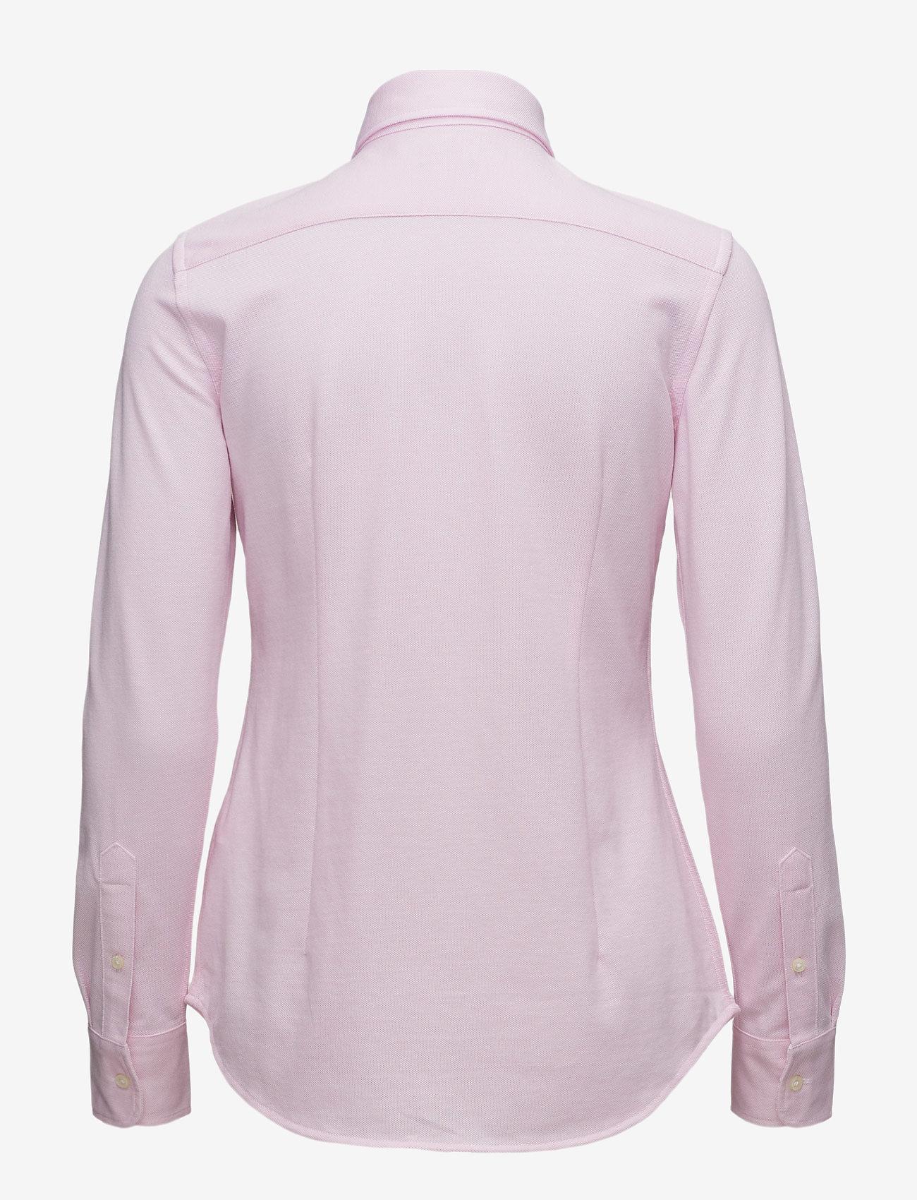 Polo Ralph Lauren - Knit Cotton Oxford Shirt - long-sleeved shirts - carmel pink - 1